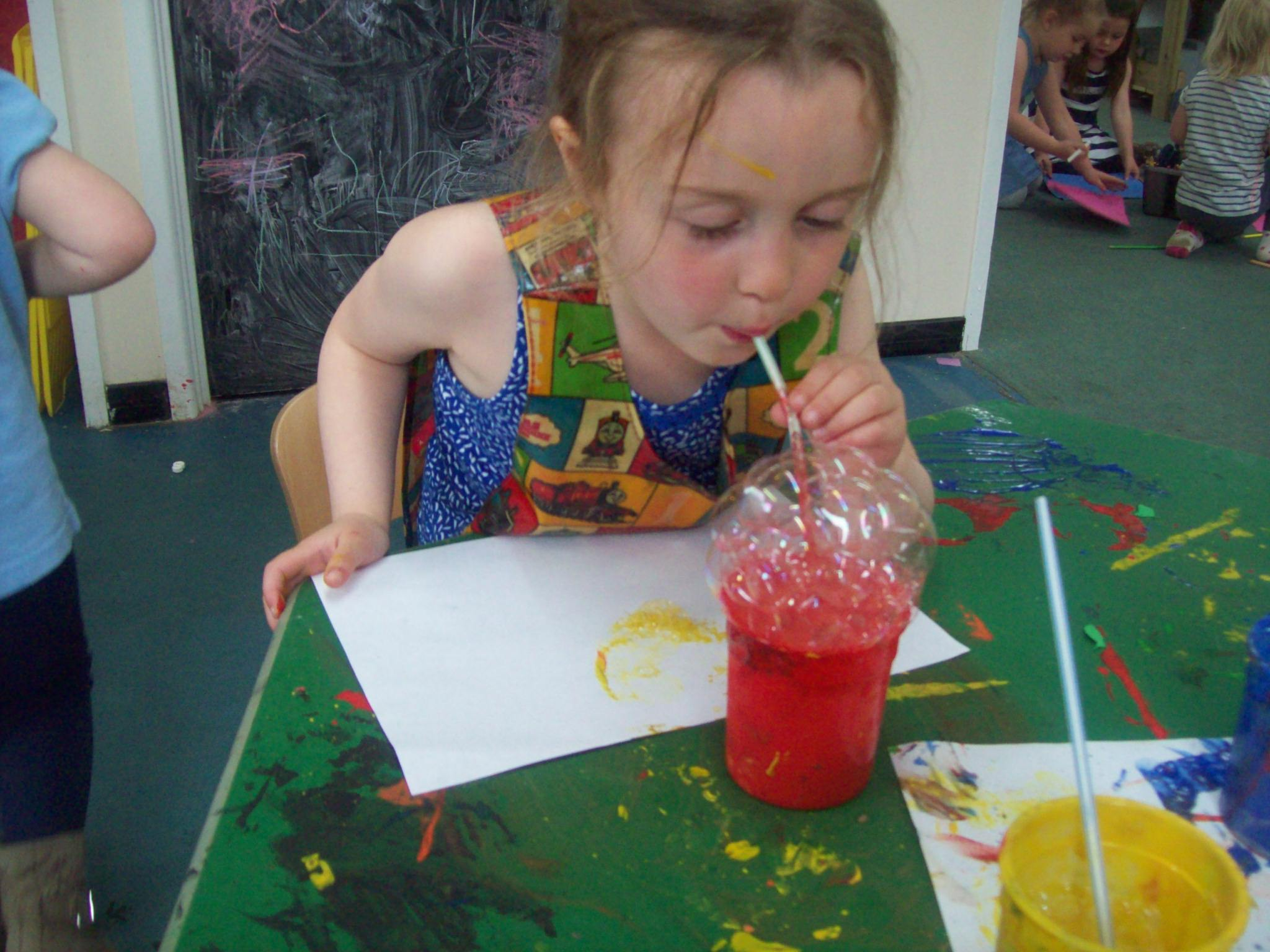 Bubble Painting, Calne, May 2016